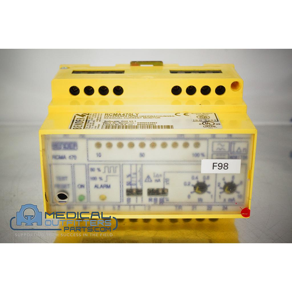 Bender Residual Current Ground Fault Monitor, AC 230V, 50/60Hz, 3.5VA, AC 250V, 5A, PN RCMA470LY