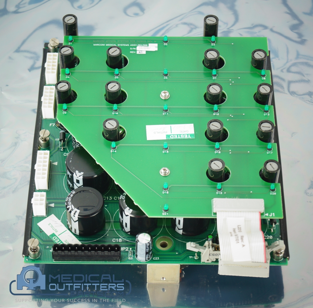 Philips MRI Infinion DC Power Distribution PCB Assy, PN 453566441131, 384378, 453566440901, 384380