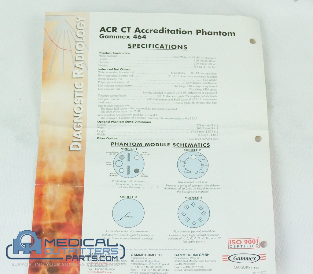 ACR CT Accrditation Phantom Gammex 464