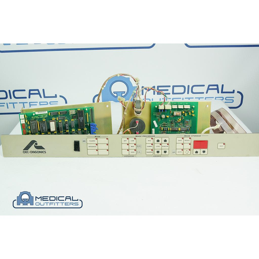 GE OEC 9000 C-ARM Front Panel Processor, Panel and Brightness Control