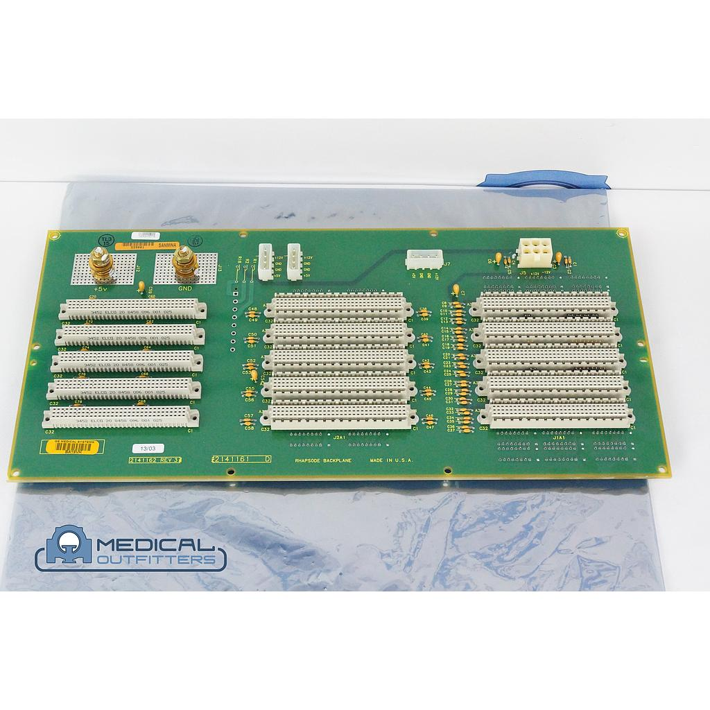 GE CT Lightspeed 16 Slice Rhapsode Backplane Board, PN 2141161, 2141162