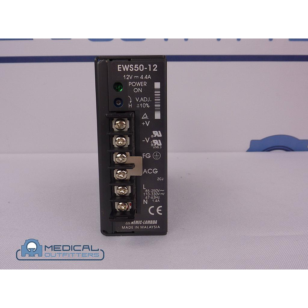 Philips Brillance 6 Slice CT Power Supply 12v 4.4a, PN EWS50-12