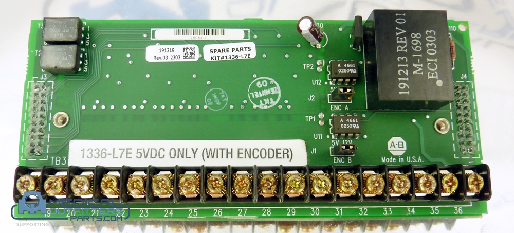 GE LightSpeed PC Board Assembly Logic 5VTTL W/Encoder Loss Detection, PN 1336-L7E