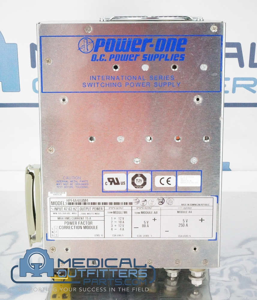GE PET/CT Power Supply Switching, 47-63 Hz, 165-264VAC, 2000W, 15A, PN HPF4A4A8M4