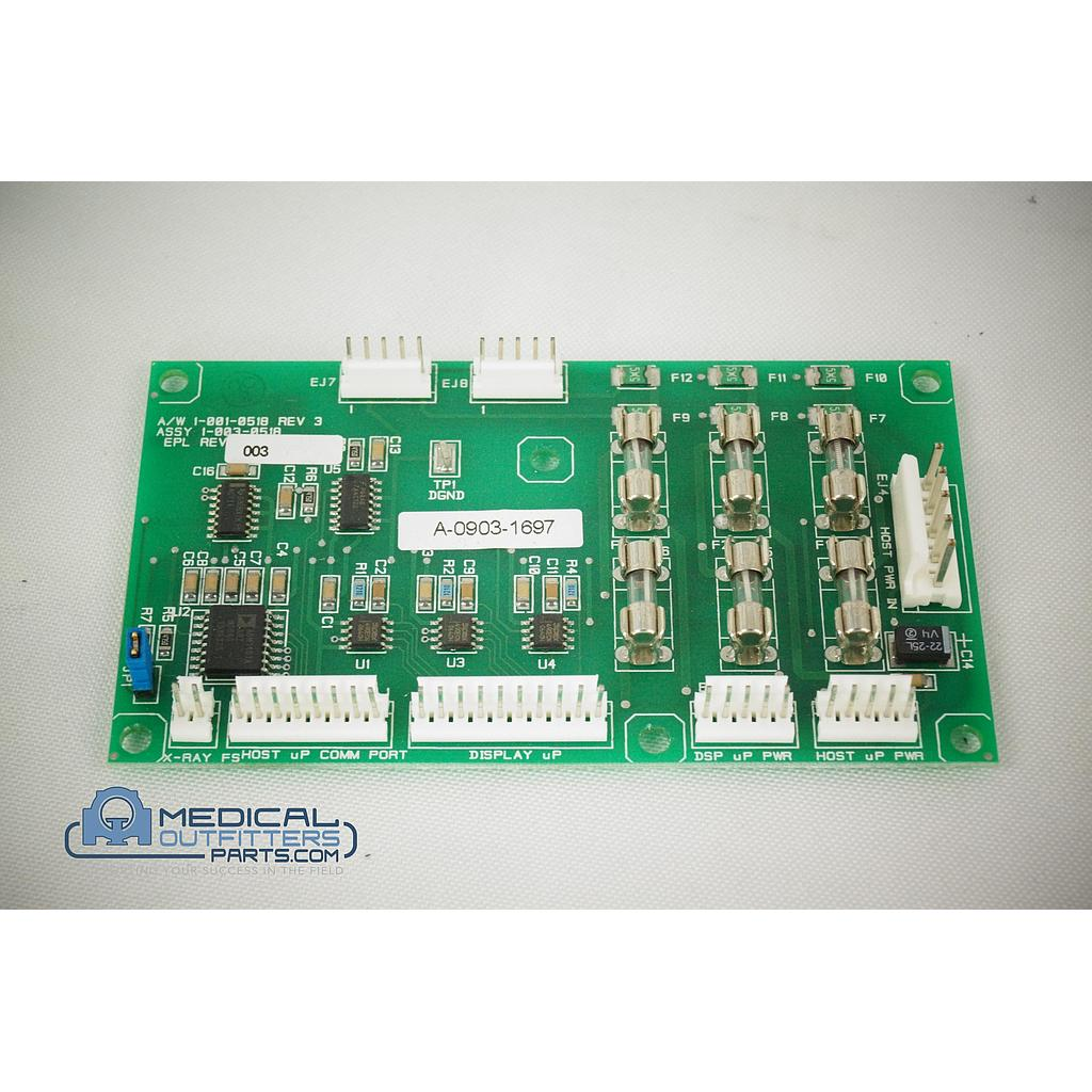 Hologic Lorad Multicare Platinum Display Com. Inte. PCB, PN 1-003-0518