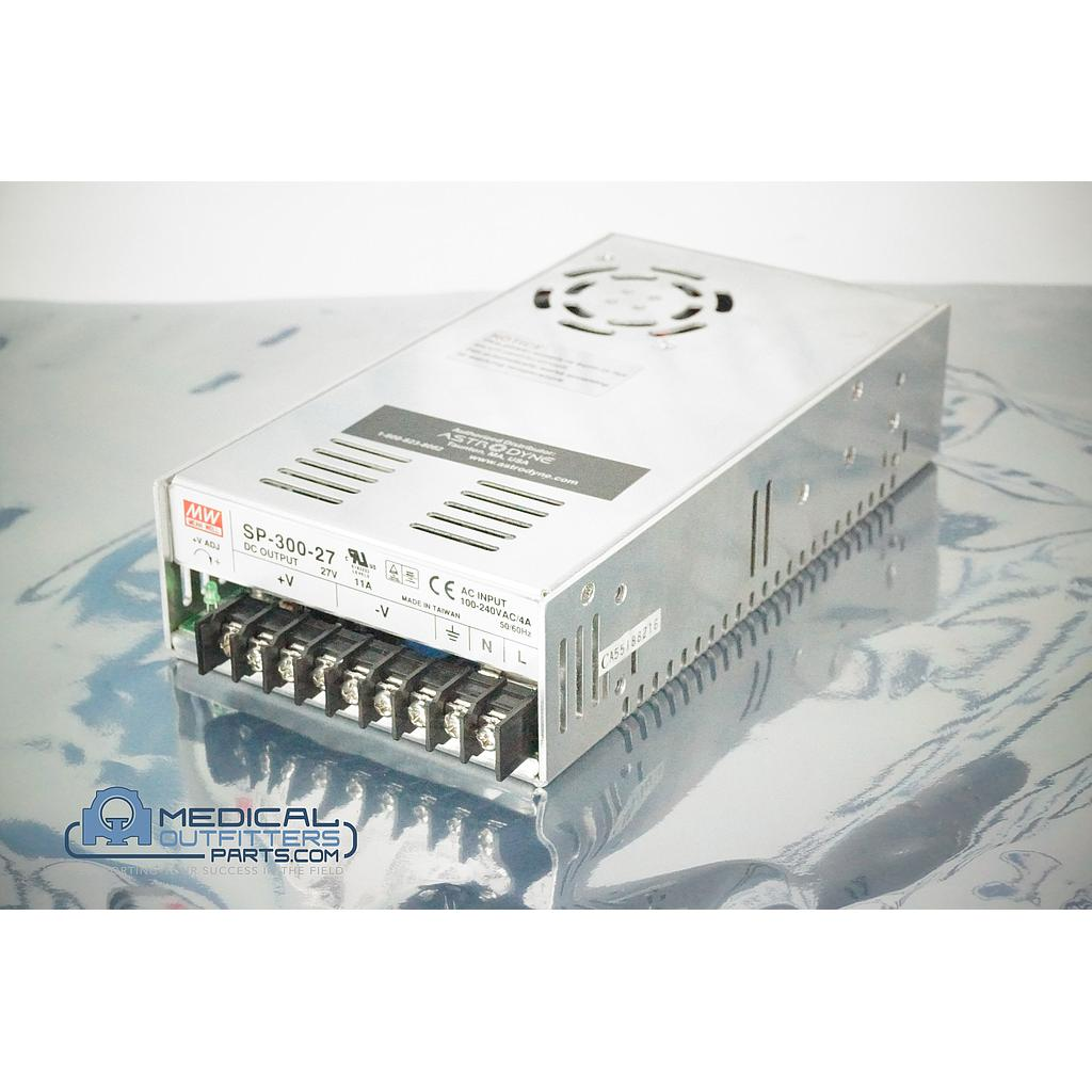 Mean Well Power Supply AC Input 100-240VAC/4A 50/60Hz, DC Output 27V 11A, PN SP-300-27